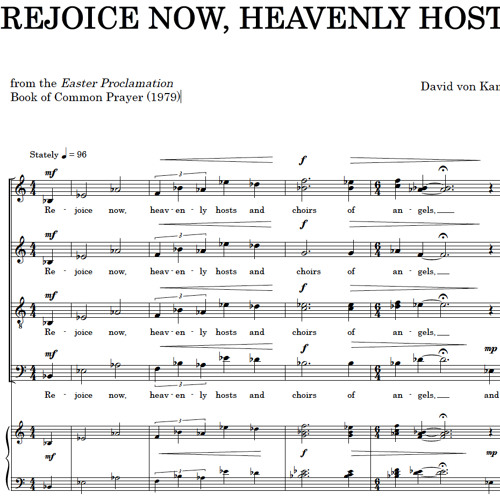 REJOICE NOW, HEAVENLY HOSTS (SATB)