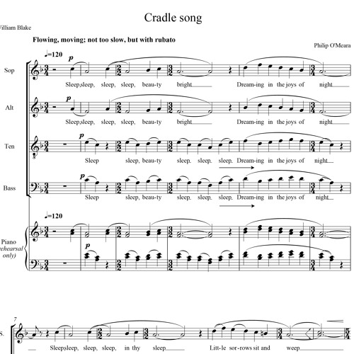 Cradle Song for choir