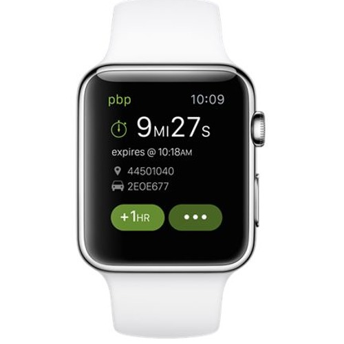Feed the meter from an Apple Watch? PayByPhone can.
