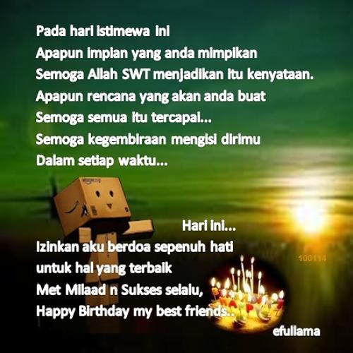 Sahabat Selamat Ulang Tahun By Efullama By Efull Rachman On