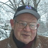 Benoit Mandelbrot In Snow Storm By Geo Geller