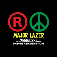 Walshy Fire of Major Lazer's Magic Hour mix for Pop-In@Nordstrom