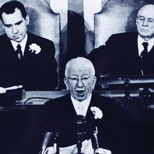 17th March 1959, St. Patrick's Day, President Seán T. Ó Ceallaigh addresses US Congress