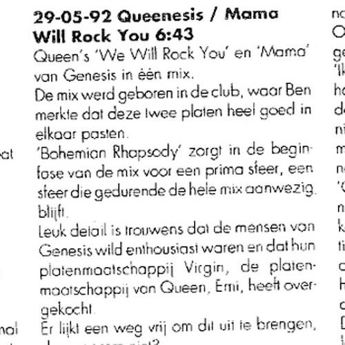 Genesis Vs Queen - Mama, We Will Rock You (Ben Liebrand Mix Re-Edit!)