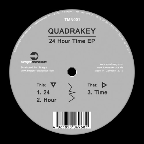 Quadrakey - 24 Hour Time EP - TMN001