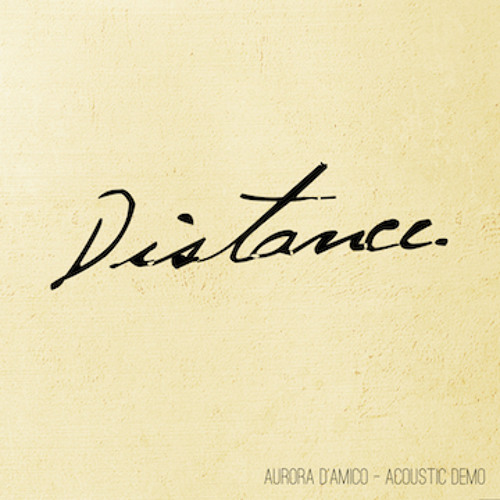 Distance (acoustic Demo)