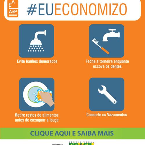 #eueconomizo Água