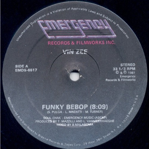 Vin Zee - Funky Bebop (chris baron edit)