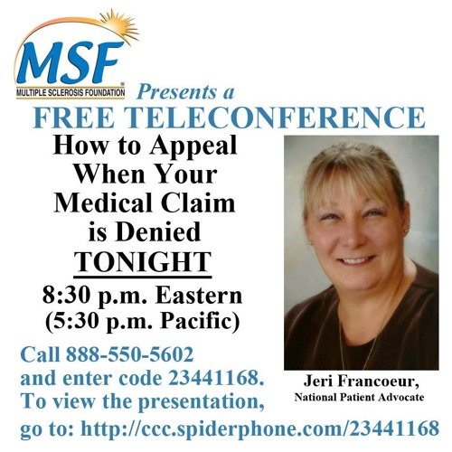 When Your Claim is Denied - Jeri Francoeur Teleconference - March 2015
