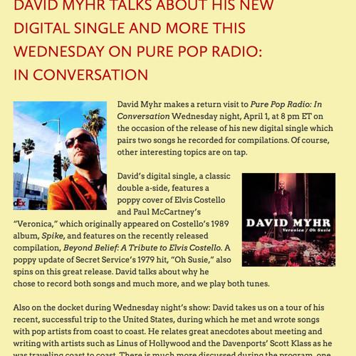 David Myhr interview in Alan Haber's Pure Pop, April 1, 2015