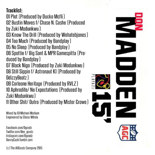 DON MADDEN 2015 MIXTAPE