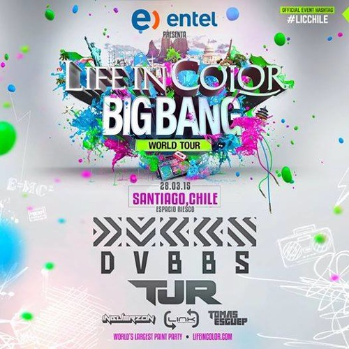 Inguerzo n Life In Colors Big Bang World Tour Chile 2015