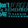 Don't Forget To Remember Me (Cover)