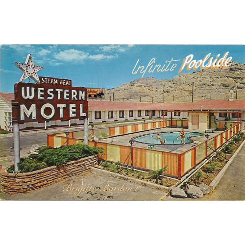 Infinite poolside western motel by infinite poolside for Western pool show 2015