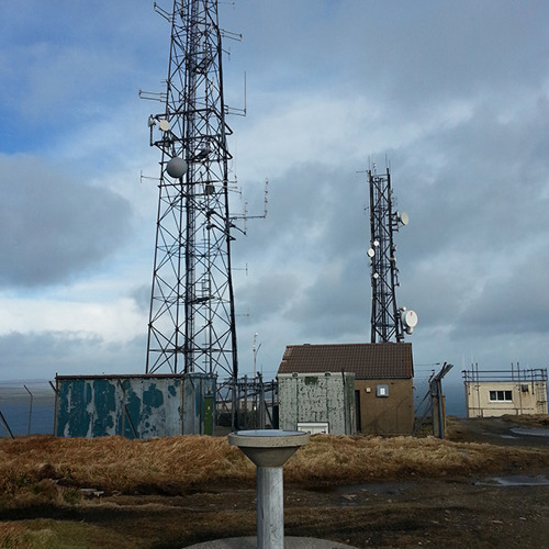Wideford Hill, Orkney 01/03/15 wind in the radio masts
