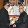 Megastar Amitabh Bachchan receives Padma Vibhushan