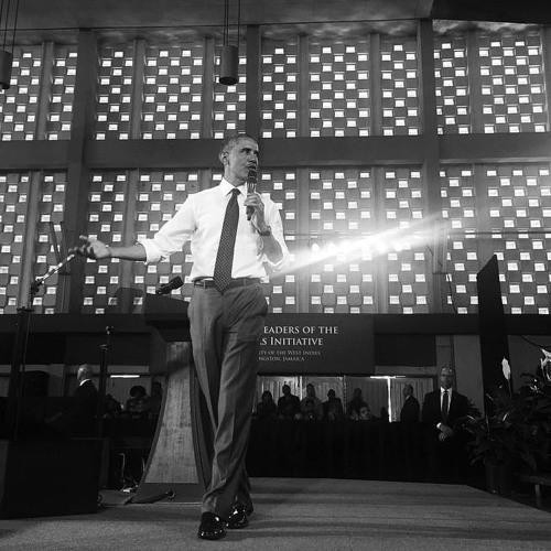 Barack Obama fait escale en Jamaïque (Radio-Canada, 9 avril 2015)
