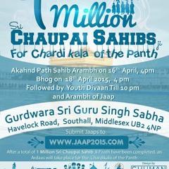 Chaupai Sahib Kirtan - 1 MILLION CHAUPAI SAHIB JAAP - Steps2Sikhi