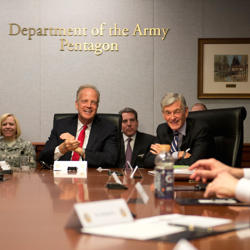 Sen. Moran and his Military-Veterans Advisory Committee Meet with U.S. Army Leadership at Pentagon