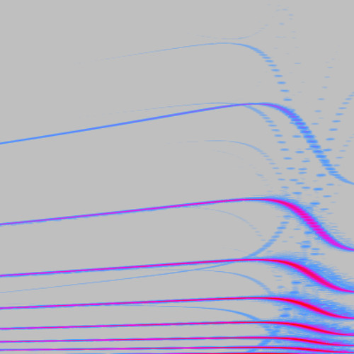 Hacia el azul/hacia el rojo (2010) Stereo reduction. Fragment