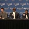 Postgame: Kevin Love, LeBron James and Kyrie Irving - April 19