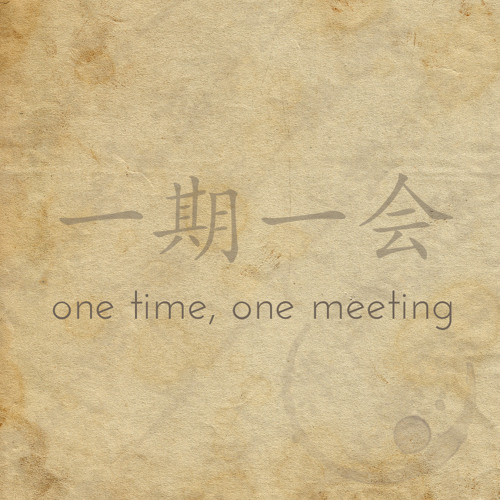 one time, one meeting