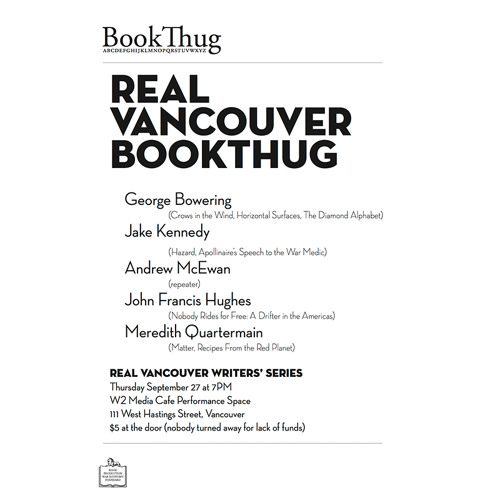 George Bowering reads from The Diamond Alphabet at Real Vancouver BookThug (2012)