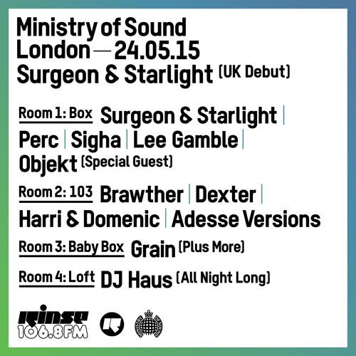 Rinse FM Podcast - Parris - 26th April 2015