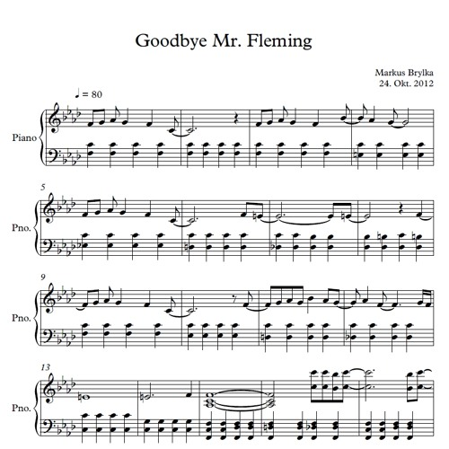Goodbye Mr Fleming