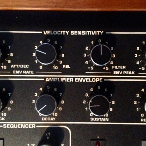 Sequential Circuits Prophet T8 with Midi Vel.127 + max. ENV peaks