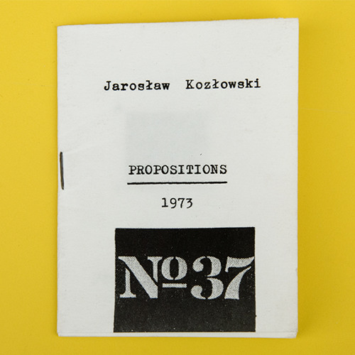 Publication As Practice: Jaroslaw Kozlowski