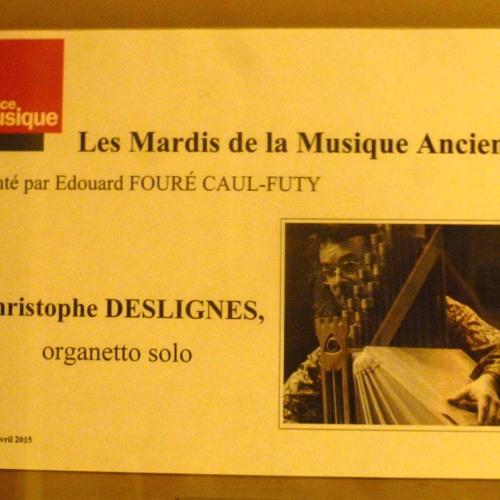 01 Christophe Deslignes Live À France Musique 28.04.2015