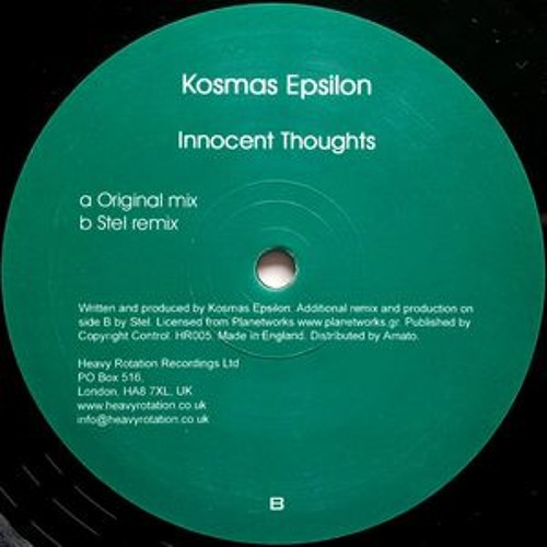 Kosmas Epsilon - Innocent Thoughts (Ehohroma remix)