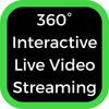 360˚ Interactive Live Video Streaming with Zero Crew