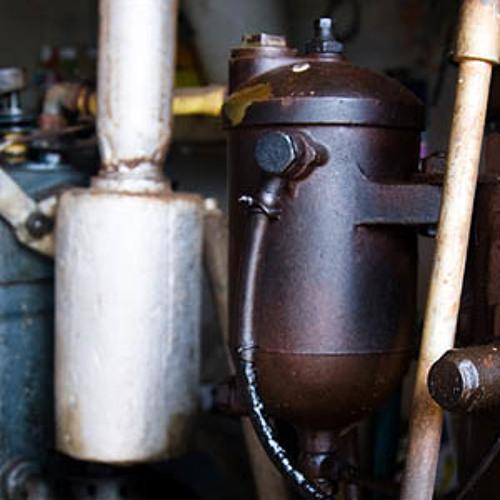 Motor diesel extrayendo agua de un pozo. Paisaje Sonoro Campos. Mallorca