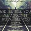 See You Again// Never Gone (Wiz Khalifa//Backstreet Boys)