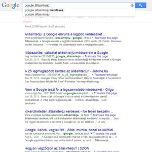 Állásinterjú Google-módra