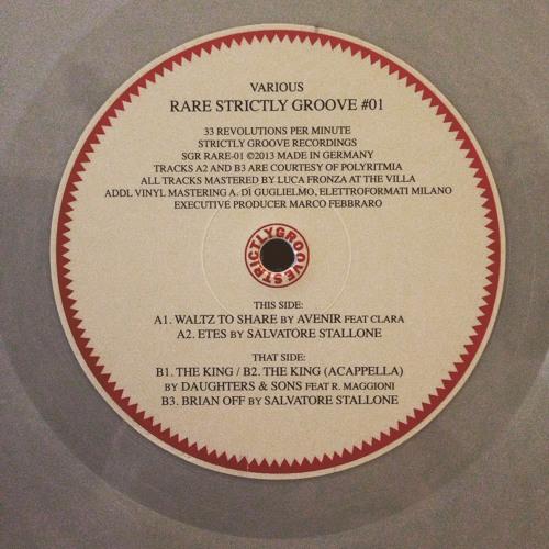 "Waltz to Share [original mix feat.Clara] (12"" vinyl's EP)  [SGR RARE-01]"