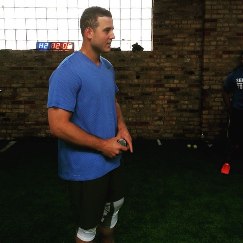 Anthony Rizzo and Cubs Strength Coach Tim Buss