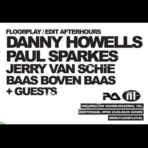 "I haven't given you anything ""long"" (a set that is) in a while, so here's my four hour set from Saturday night at Floorplay, in the brilliant Club NL in Amsterdam. I'd played the Edit Festival earlie"