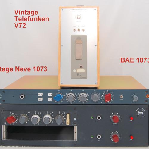 Test 1-2 Vintage Neve 1073, BAE 1073, Vintage Telefunken V72_2A
