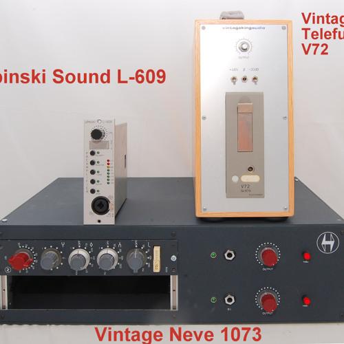 Test 3-1 Vintage Neve 1073, Lipinski Sound L-609, Vintage Telefunken V72_1A