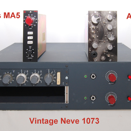 Test 5-1 Vintage Neve 1073, Avedis MA5, AWTAC Channel Amplifier_1B