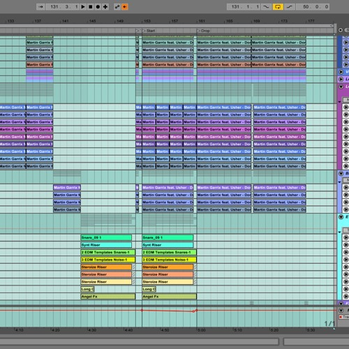 MARTIN GARRIX FEAT USHER - DON'T LOOK DOWN ABLETON LIVE
