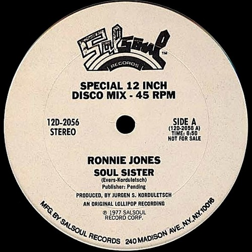 Ronnie Jones-Soul Sister (VinylAddicted Soul Re-sista-nce Edit) (Free Mastered WAV)(Rare!!!)