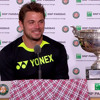 Stan Wawrinka, in francese, commenta la vittoria al Roland Garros