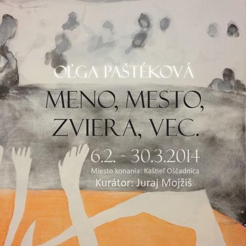 Olga Pastekova, pozvanka na vystavu, Radio FM, februar