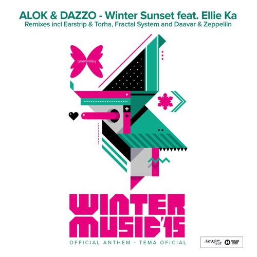 Alok dazzo winter sunset feat ellie ka fractal for House music anthem