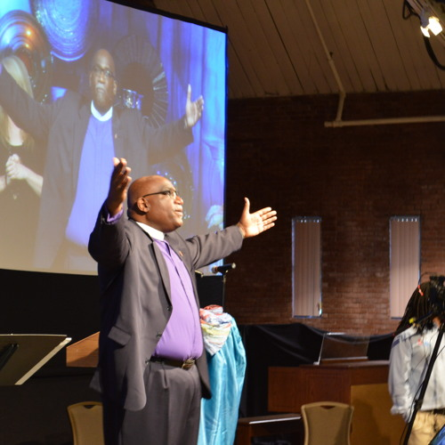 Bishop Palmer preaching at morning worship Friday, June 19, 2015