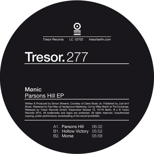 Mønic - Parsons Hill EP - Tresor